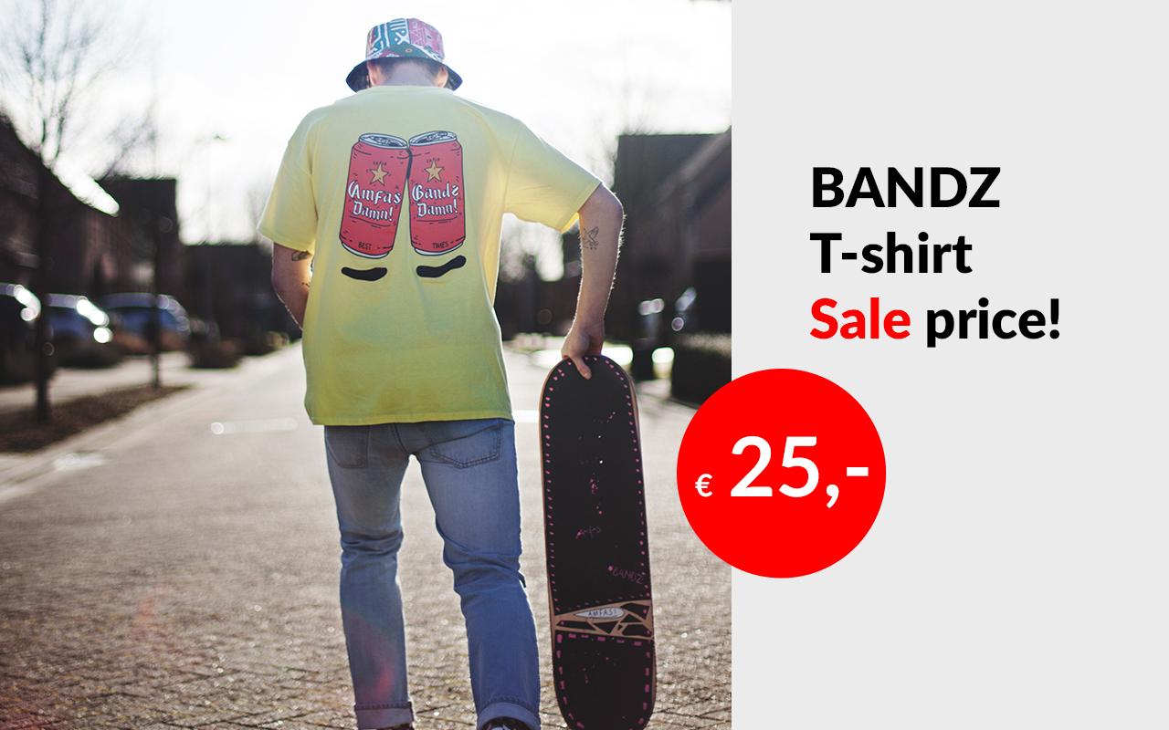 Bandz t-shirt 2 cans
