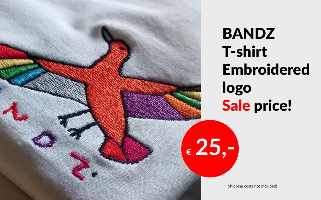 Bandz t-shirt embroidered logo